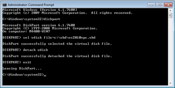 DetachingVDISK